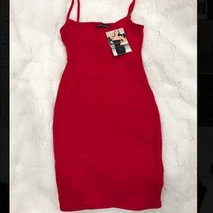 Naked Wardrobe   RED Dress   NEW